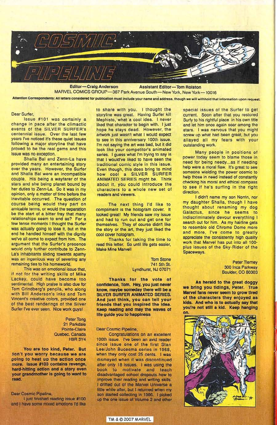 Silver Surfer (1987) Issue #103 #111 - English 34