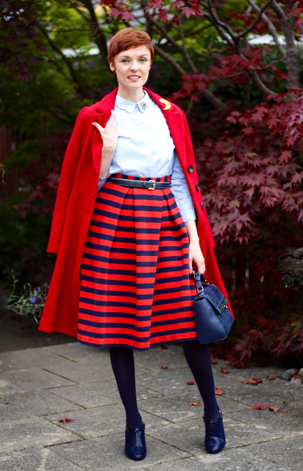 Autumn Capsule Style | Bold Work Look | Navy, Blue & Red.