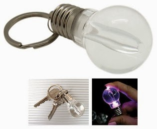 Unbreakable Colorful LED Light Bulb Keychain for Rs.49 Only