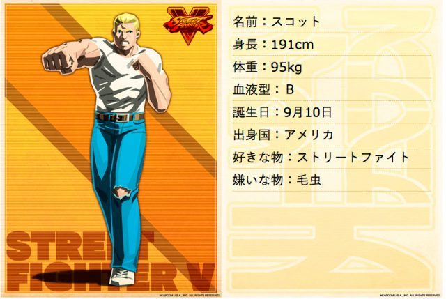 Scott, da abertura de Street Fighter II