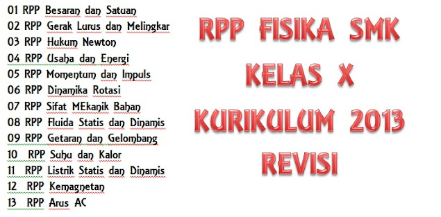 RPP FISIKA SMK KURIKULUM 2013 REVISI