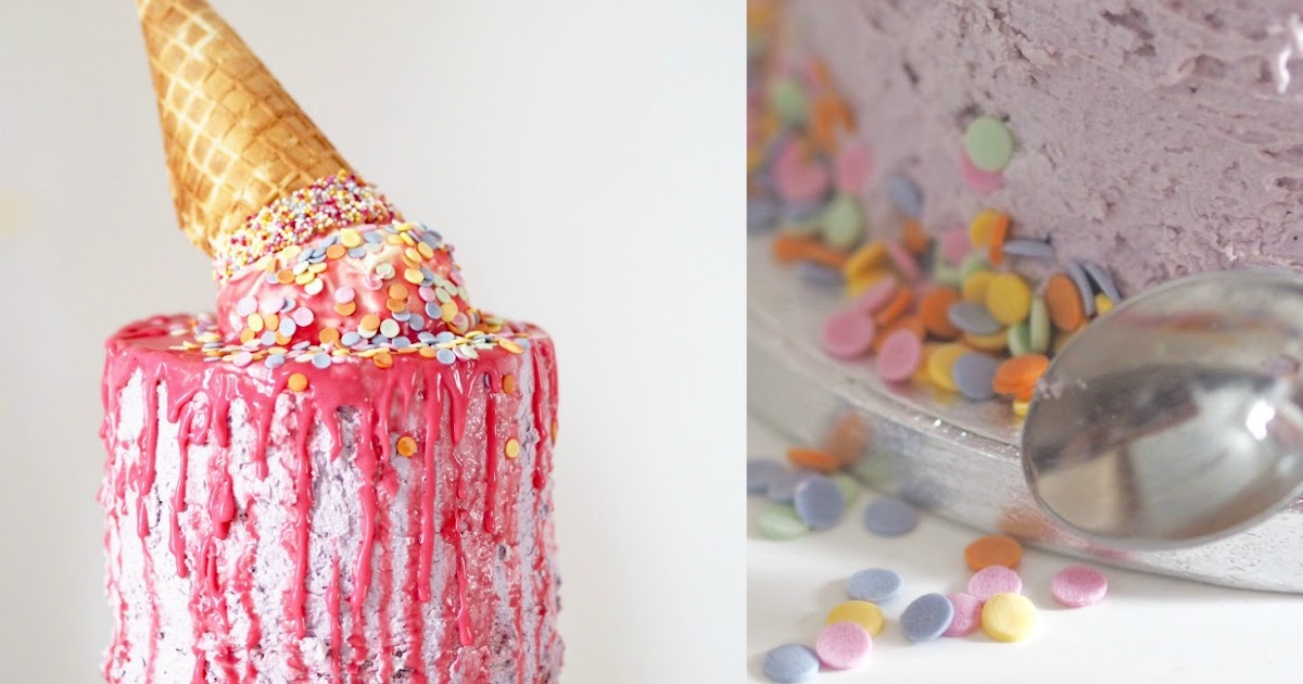 DIY: How To Make Your Own Melting Ice Cream Cone Cake - Eat.Love.Live