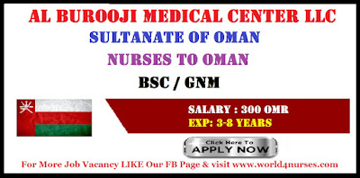 NURSES VACANCY IN OMAN APPLY NOW