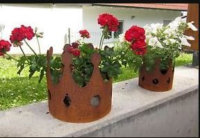 Gartendeko Rost Krone