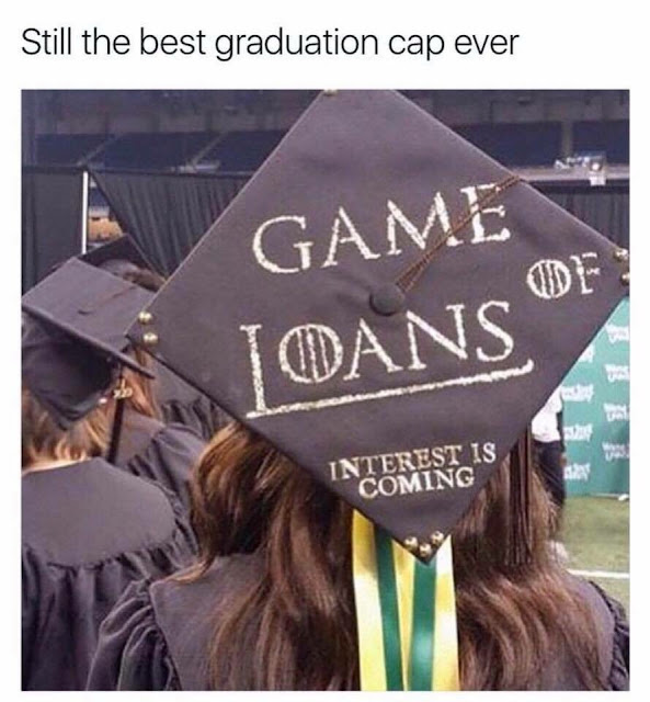 Game of Loans - Still the best graduation cap ever