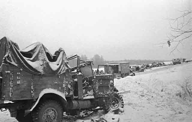 Destroyed German column near Volokolamsk, 5 December 1941 worldwartwo.filminspector.com