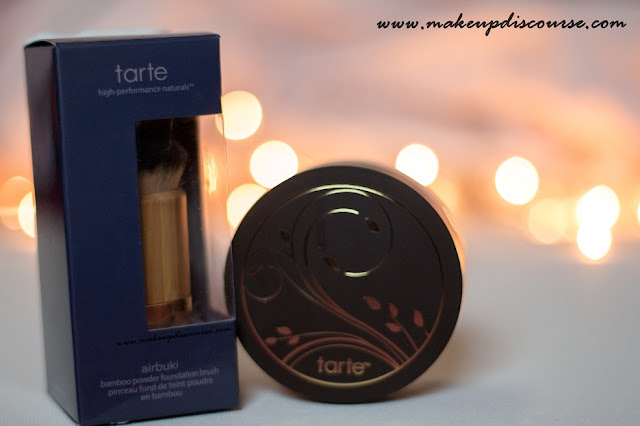 tarte Amazonian Clay Full Coverage Airbrush Foundation & tarte Airbuki Bamboo Powder Foundation Brush. tarte cosmetics ships to India