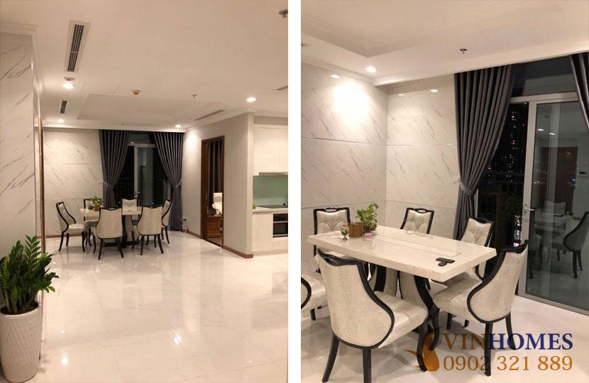 Bán căn hộ 3PN tầng trung tòa nhà L3 khu Vinhomes | bán ăn đẹp gần bếp và phòng khách