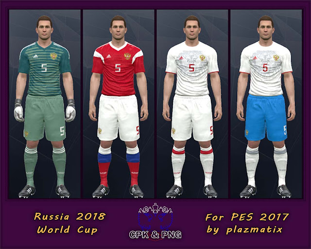 PES 2017 Russia 2018 World Cup Kits by Plazmatix