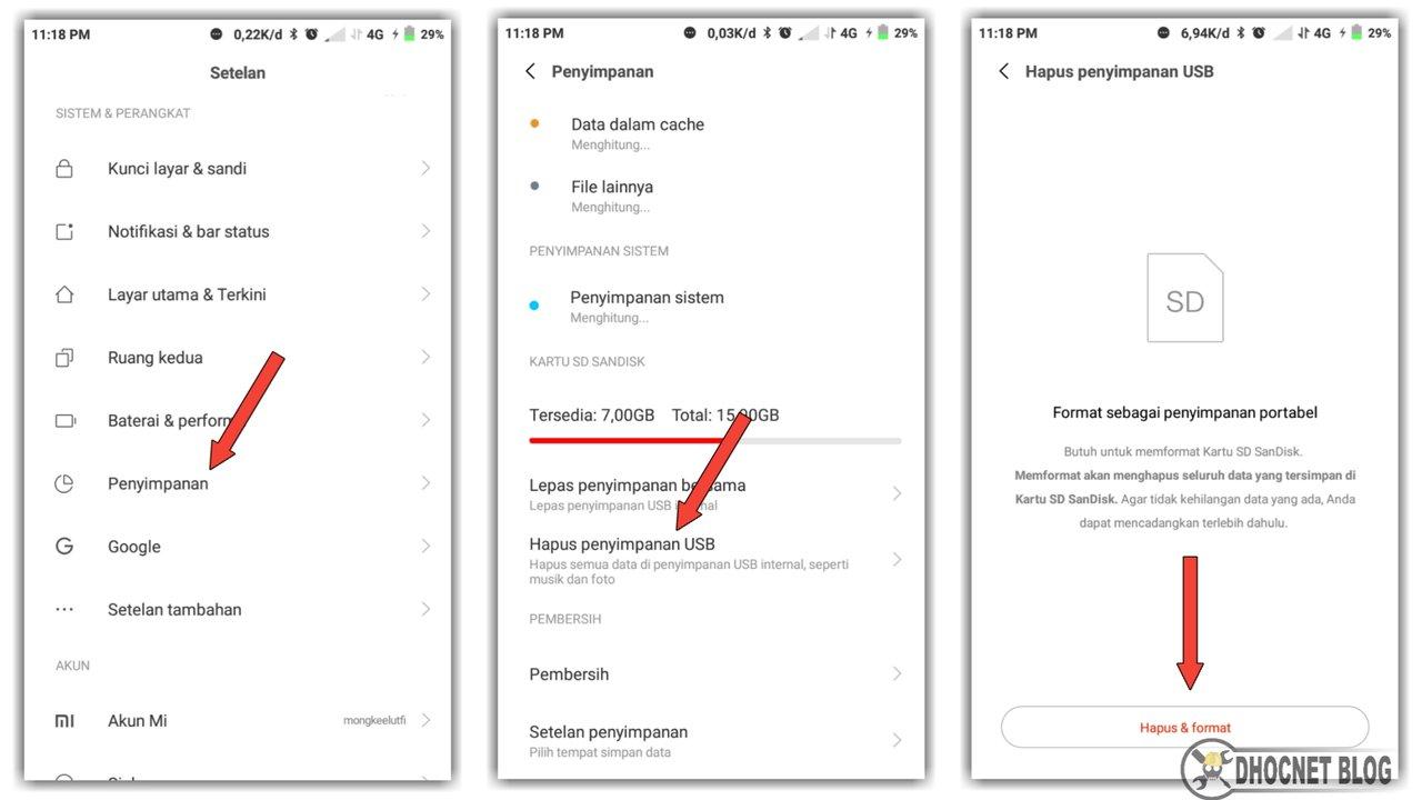 Cara Memformat SDcard di Android OS