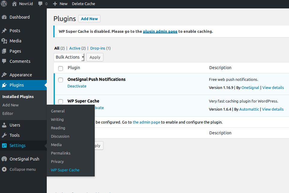 Cara Mempercepat Website WordPress Dengan Plugin WP Super Ca