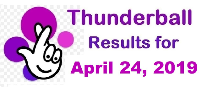 Thunderball results for Wednesday, April 24, 2019