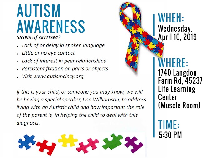 Join the Discussion on Autism - April 10, 2019
