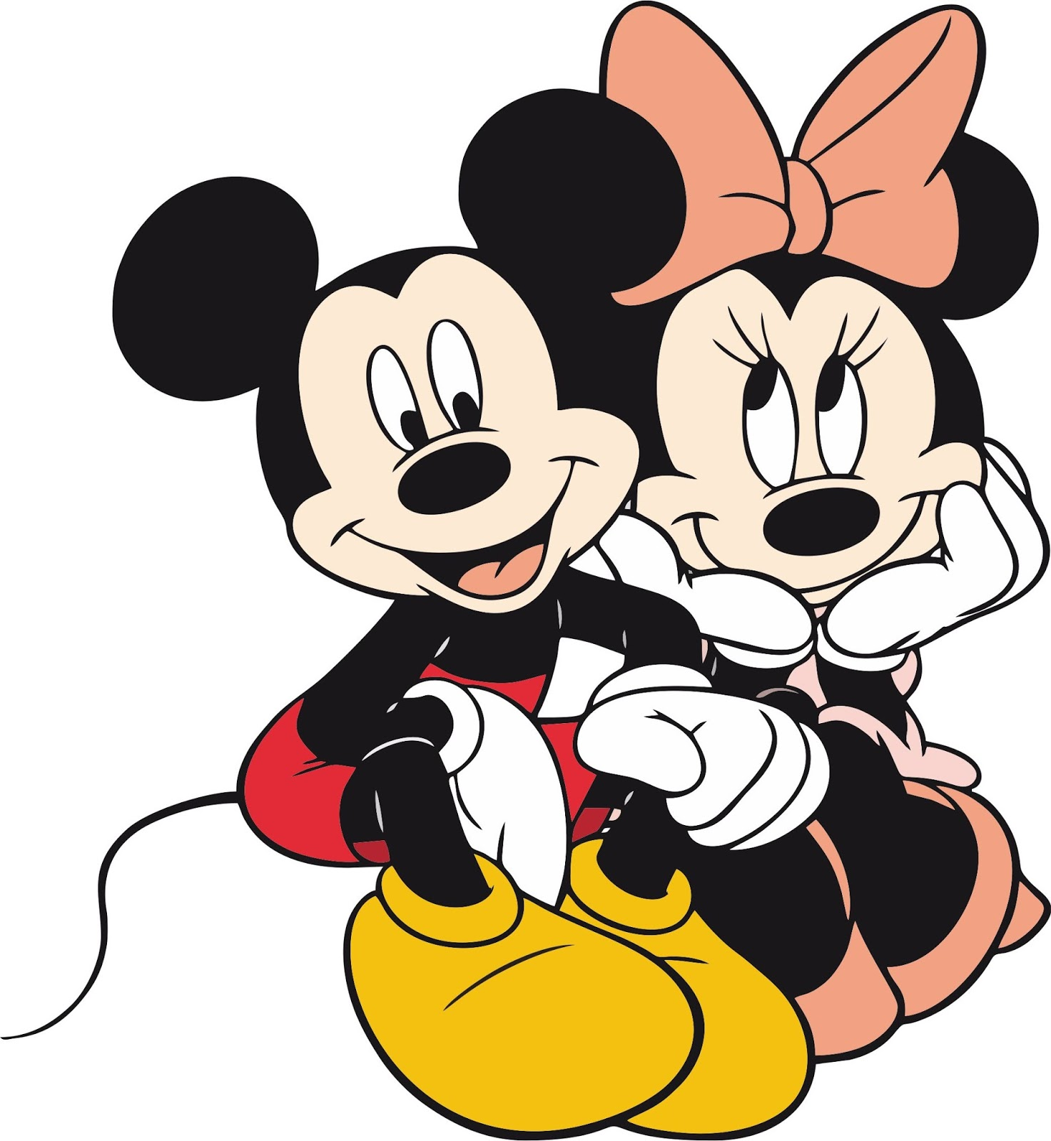 Mickey e Minnie apaixonados - Pacote de Imagens ...
