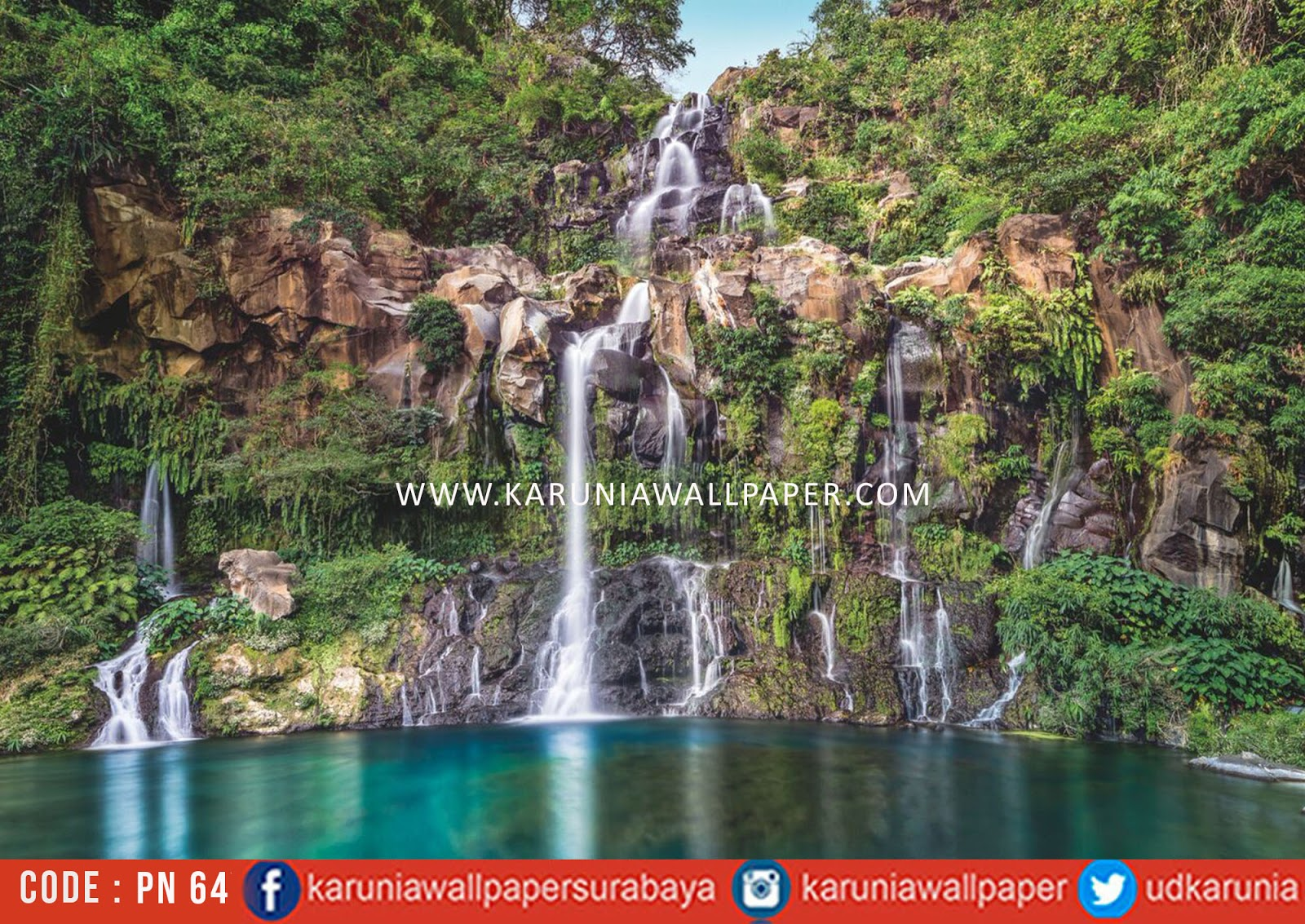 jual wallpaper air terjun