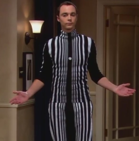 Sheldon s doppler effect costume in penny s party from big bang ... 5d621b3e6e88