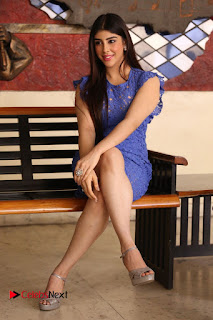 Actress Aditi Singh  Pictures in Short Dress at Movie Interview  0297.JPG