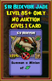 Sir Bedevere - Wizard101 Card-Giving Jewel Guide