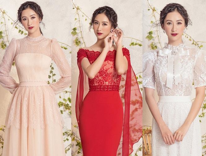 Á hậu Hà Thu diện váy thanh lịch như các quý cô hoàng gia