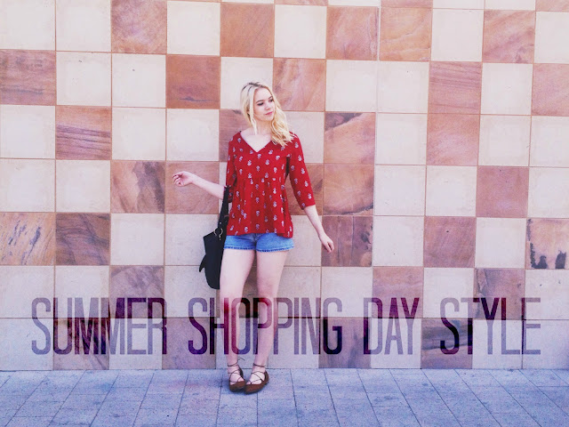 Click to see two cute summer outfits perfect for a day shopping with the girls!