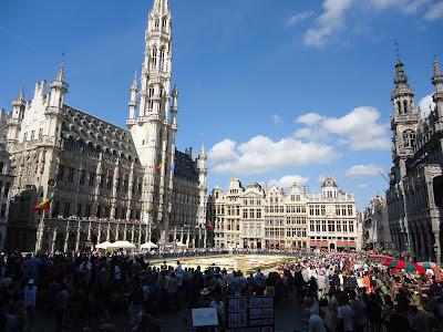 The flower carpet in Bruxelles, Belgium
