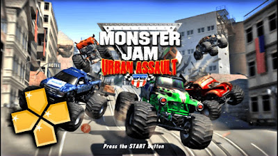 MONSTER JAM URBAN ASSAULT PPSSPP ISO for Android