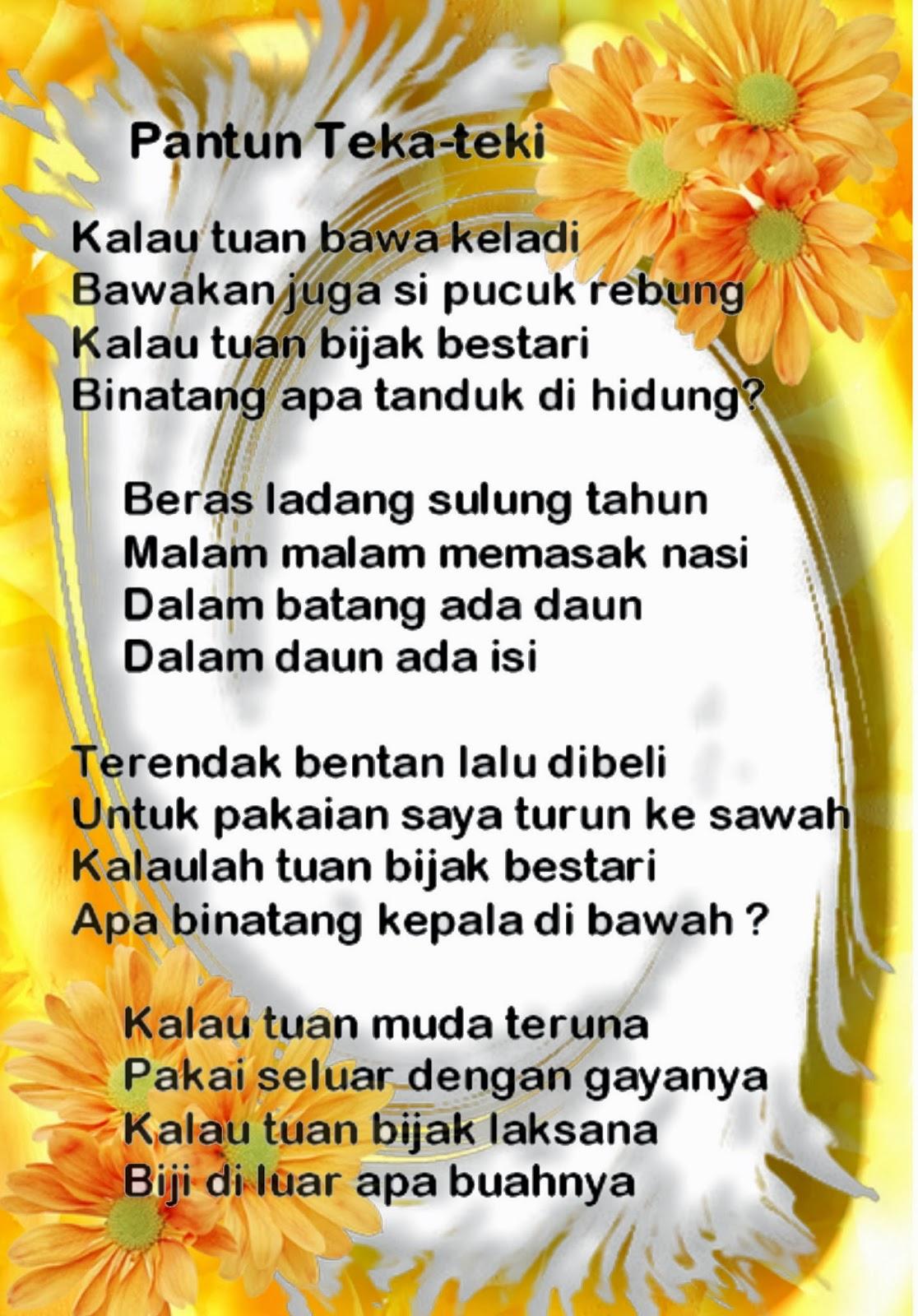 Pantun Sunda Pendidikan Kecapian Wikipedia Bahasa Indonesia Ensiklopedia Bebas Belajar Kurikulum 2013 Pantun Dan Syair