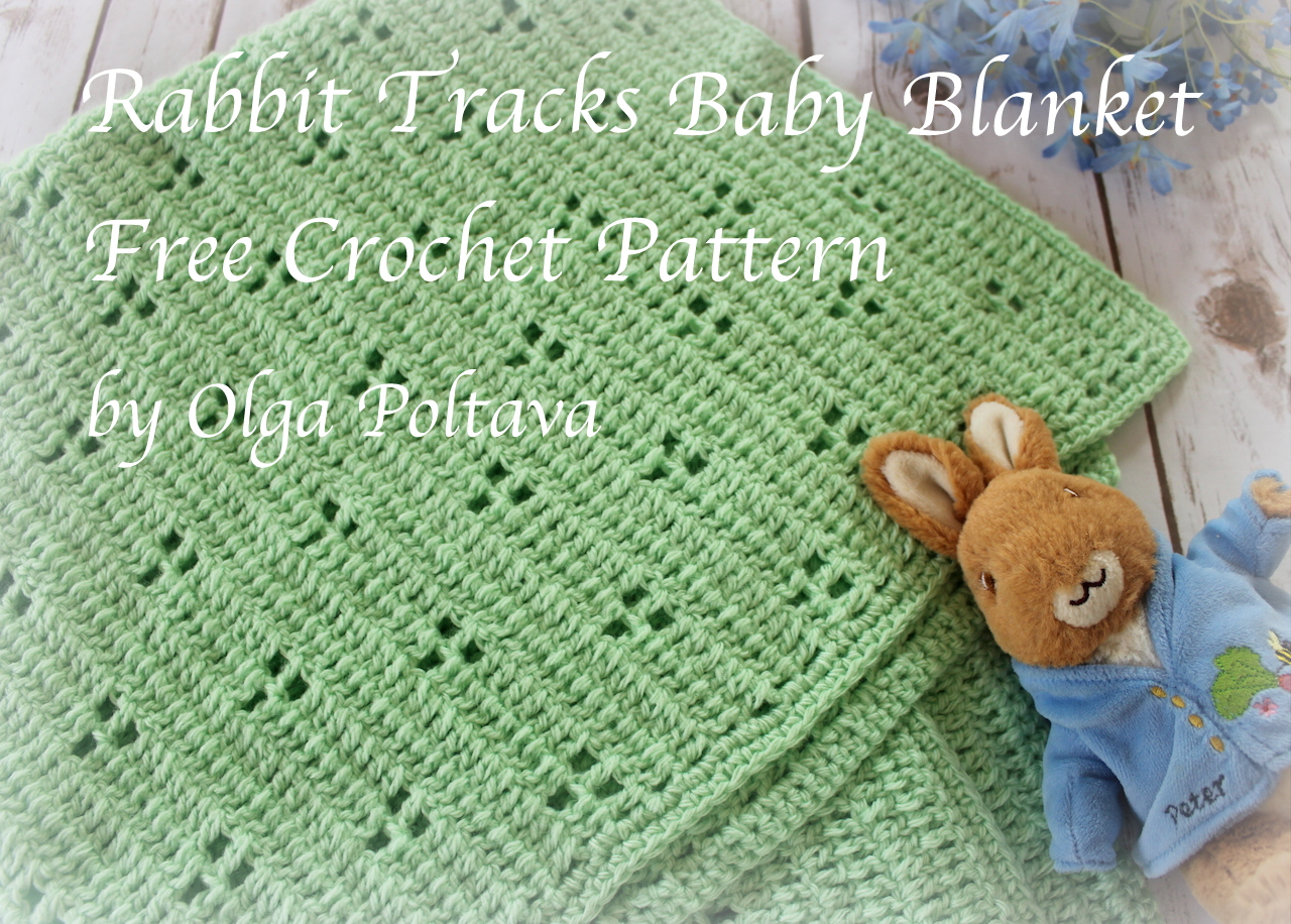 Lacy Crochet Rabbit Tracks Baby Blanket My New Free Crochet Pattern