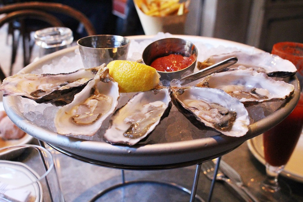 Oysters at Belga, San Francisco - California travel blog