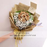 mawar gold, hand bouquet mawar gold, madame florist