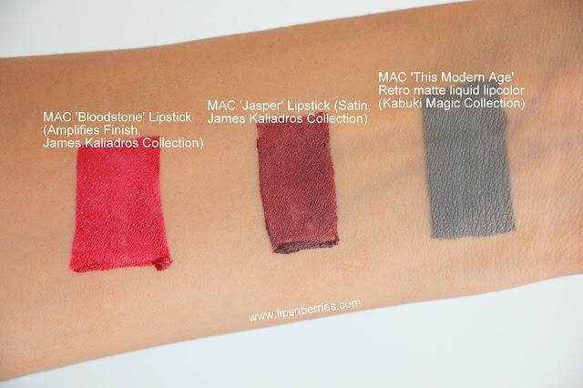 MAC Jasper lipstick swatch