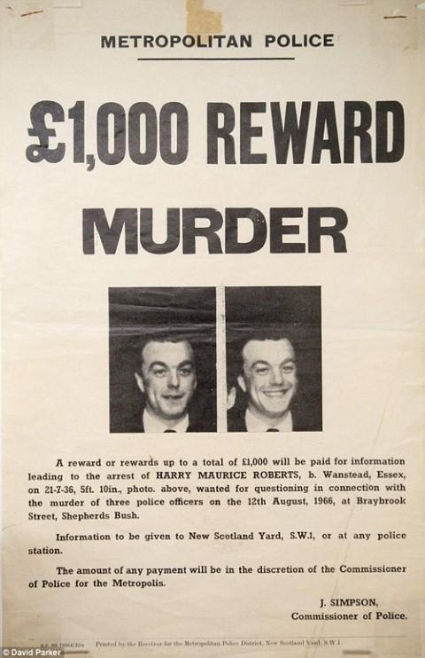 Thông báo truy nã Harry Roberts