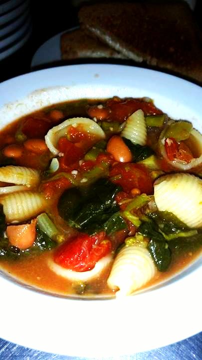 Ramblings Thoughts, Soup, Cold Day, Cold Chills, Recipe, Tasty Tuesday, Minestrone, Cooking