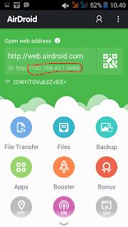 cara transfer file dengan airdroid 4