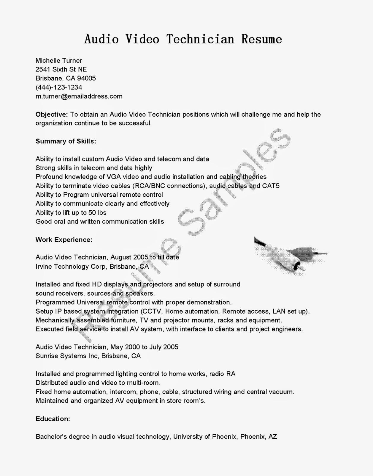 sound engineer resume - Etame.mibawa.co