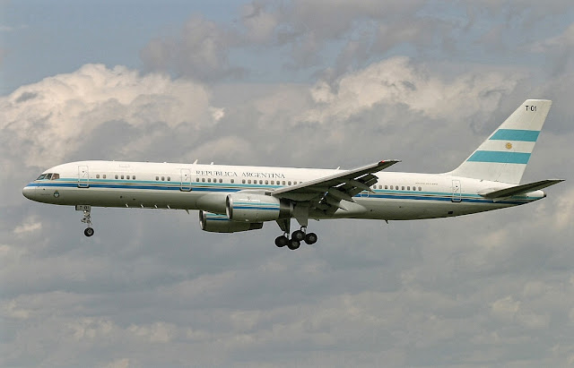 Tango 01 Boeing 757-200 of Republica Argentina Presidential Aircraft