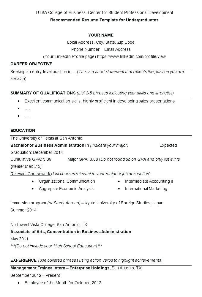 Apa Resume Format Sample - Lebenslauf Vorlage Site