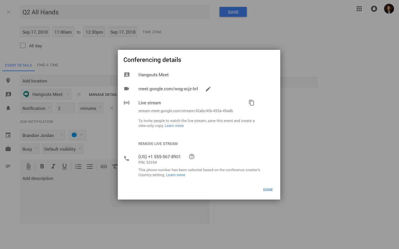 G Suite Updates Blog: Live stream Hangouts Meet meetings
