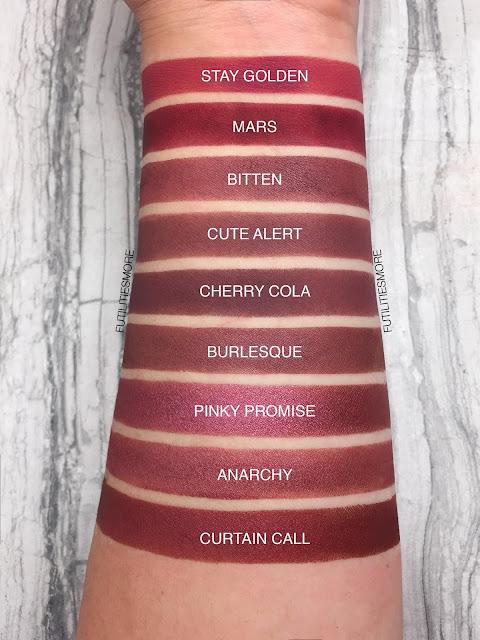 REDS AND BURGUNDIES/ Colourpop VS Makeup Geek, futilitiesmore, futilitiesandmore, futilities and more