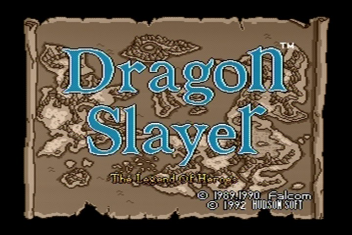 The RPG Consoler: Game #63: Dragon Slayer: The Legend of