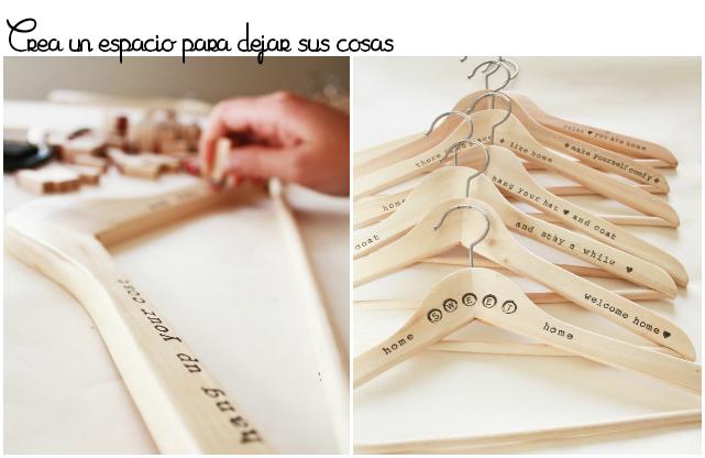 DIY percha sellos abecedario
