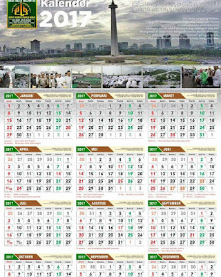 Download Kalender 2017 Berlatar Foto Fenomenal Aksi 212