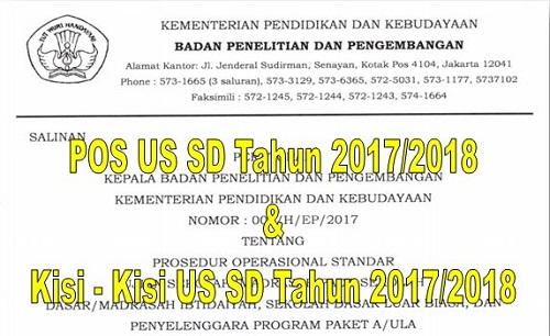 POS US SD Dan Kisi – Kisi US SD Tahun 2017/2018