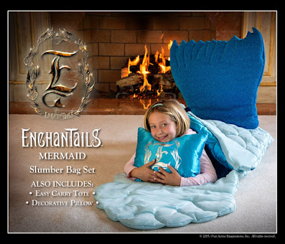 Enter the  Enchantails Slumber Bag Giveaway. Ends 9/29