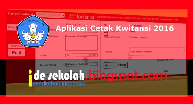 Aplikasi Cetak Kwitansi 2016