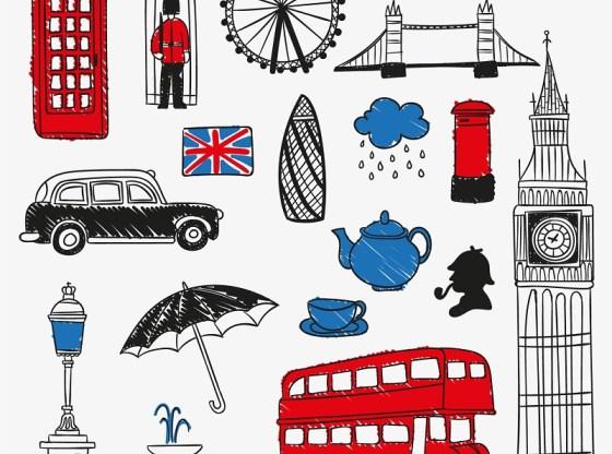 التعبيرات الانجليزية العادية الصلة بالنقل London-and-British-symbols.jpg