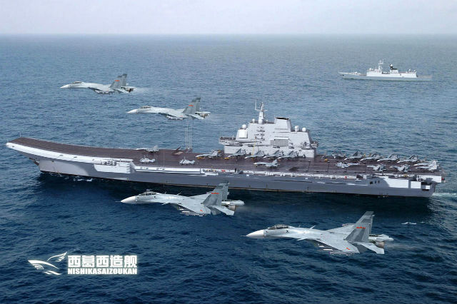 First Chinese Aircraft Carrier Gets China Ready for a Second