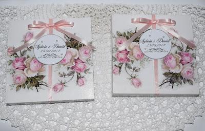 Ślubny komplet oraz scrapbookowe kartki na Komunię.