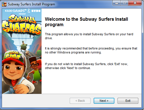 Subway Surfers Download for PC - Muddlex