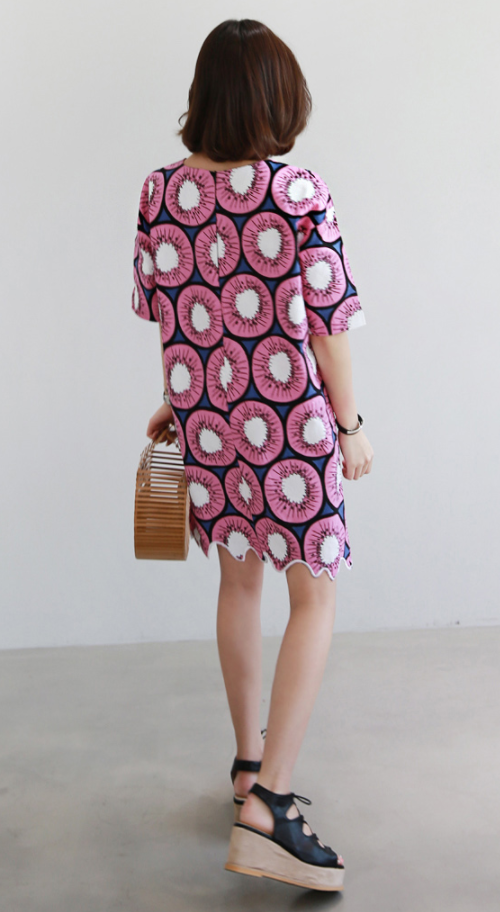 Kiwi Print Shift Dress